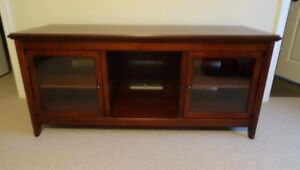 Wood and Glass TV stand/component cabinet
