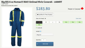 New price - New Big Bill overall coverall size L Fire Resistant