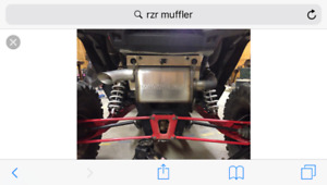 RZR xp 1000 stock and aftermarket exhaust