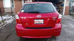 2014 Toyota Matrix with  New winter tires