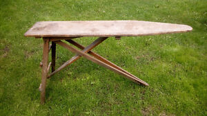 Very Old Rickety Wooden Ironing Board