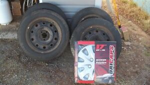 17 in. dodge wheels, tires, and hubcaps