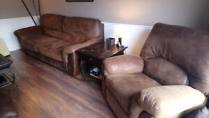 Large Couch and Recliner set