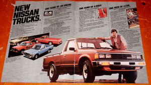 ANONCE CAMION 1983 NISSAN KING CAB PICKUP - RETRO AD 80S TRUCK