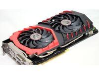 GPU MSI GTX 1080 8gb Gaming x Swap + cash or sell Graphics Card