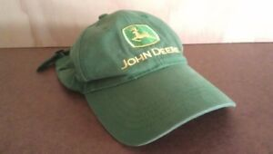 JOHN DEERE Green Twill CAP Yellow Logotype: One Size Fits Most
