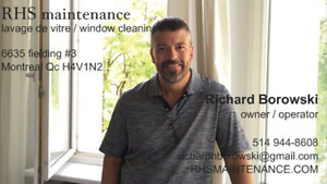 LAVAGE DE VITRES RHS MAINTENANCE WINDOW CLEANING