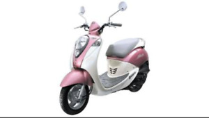 Sym Mio gasScooter- 49cc, mileage is approx. 290Km.  $1500 as-is