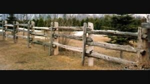 Weathered Cedar Fence Rails London Ontario image 1