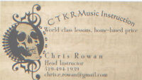 CTKR Music - Lessons and Recording/Rehearsal space!