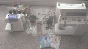 Sewing Machine and Serger Set