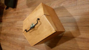 Handmade Solid Wood Tack Box