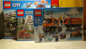 Lego City 60132+60124+60035, all brand new