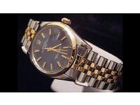 Rolex Date Men's 34mm Gold & Steel
