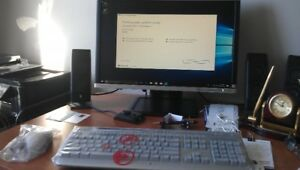 "HP 8200 COMPUTER SET, 24"" HP LCD MONITOR, NEW KEY MOARD AND MOUS"