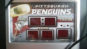 ** HORLOGE DES PENGUINS DE PITTSBURGH**
