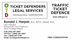 OTD Ticket Defenders Legal Services – Traffic Tickets Stratford Kitchener Area image 2