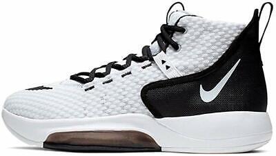 Nike Men's Zoom Rize TB Basketball Shoes, White/Black, 12 D(M) US