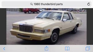 Anyone have 80-82 thunderbird or cougar parts car?