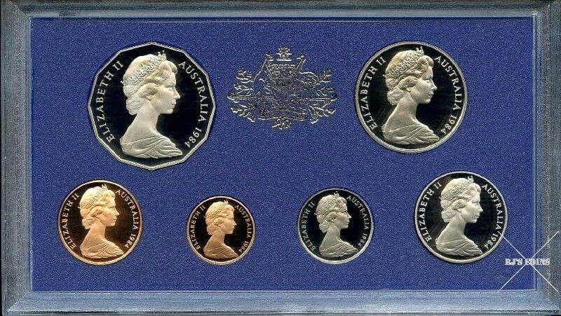 Australian 1984 Proof Six Coin Year Set from the Royal Australian Mint