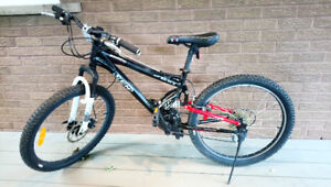 Bike Youth Adult CCM Static 24 Dual XC 21 Speed Mountain Bike 24