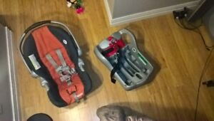Baby car seat  and carrier with base