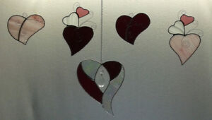 Valentine stained glass - Love Hearts