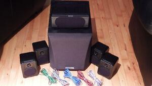 Kenwood Complete Surround Sound Speakers W/ Subwoofer