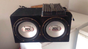 "10"" mtx subs and Sony amp"