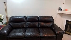 FREE BLACK LEATHER COUCH!!!!!