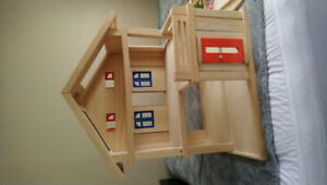 Plan Toys Fully Furnished Wooden Dollhouse