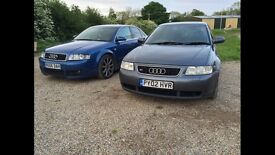 Audi S3 8l dolphin grey Breaking for parts Bam k04