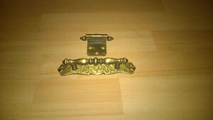 Antique brushed bronze handles and hinges