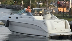 2004 SEARAY SUNDANCER 240 BOAT CRUISER W EXT. SWIM PLATFORM