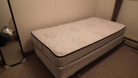 Twin Size Box Spring and Mattress