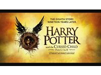 Harry Potter and the Cursed Child tickets for 2 people parts 1+2 STALLS Aug 2017