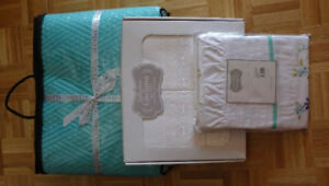 Brand new sheet set & cover / Nouvel ensemble de draps & duvet