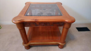 Solid Wood Hand Crafted Small Table - High End Product