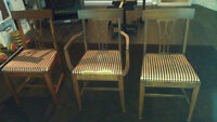 Two antique Knechtel chairs