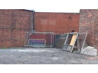 Used temporary mesh fencing silver security panels