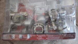 Free locking door knob and deadbolt set (no key)