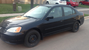 2002 HONDA CIVIC 4DR BLACK