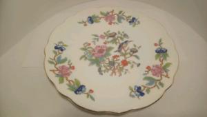 "8.5"" Aynsley Scalloped Cake Plate Pembroke Pattern"