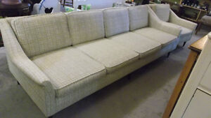Vintage Mid Century Modern Four Seater Sofa and Lounge Chair