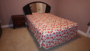Two Frame Beds + Side Tables for Sale