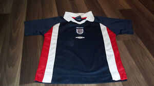 England Soccer Jersey Size 4T-5T