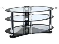 Oval tempered glass to stand