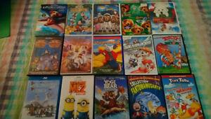 Dvd pour enfants 5$ chacun sauf coffret Garfield 10$