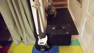FENDER AFFINITY SQUIRE  J BASS AND  AMP
