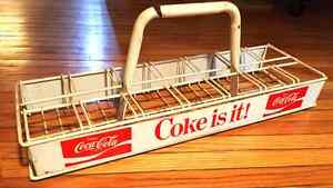 "Rare vintage 80's Coca-Cola ""Coke Is It!"" antique bottle caddy"